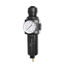 """Conjunto regulador y filtro combinado 1/4""""- Con manómetro 0-12 bar"""